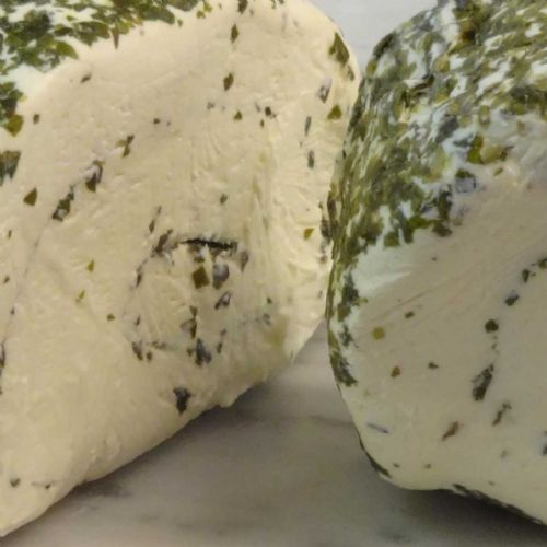 Le Roule Cheese, fresh young cheese with garlic and herbs